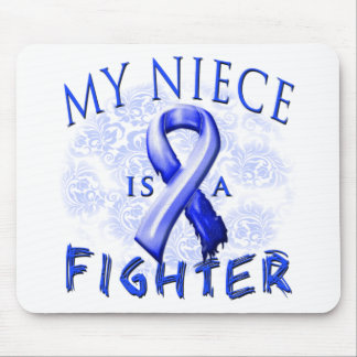 My Niece Is A Fighter Blue Mouse Pad