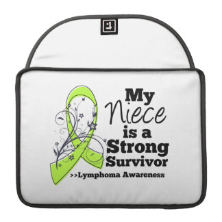 My Niece is a Strong Survivor of Lymphoma MacBook Pro Sleeve