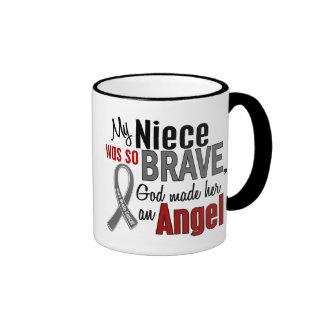 My Niece Is An Angel 1 Brain Cancer Ringer Mug