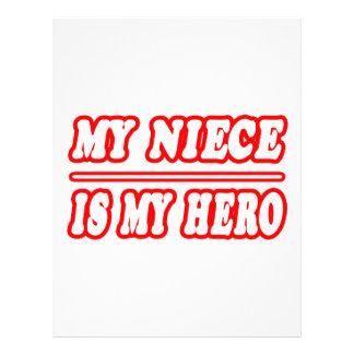My Niece Is My Hero Letterhead Design