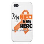 My Niece is My Hero - Leukemia iPhone 4 Case