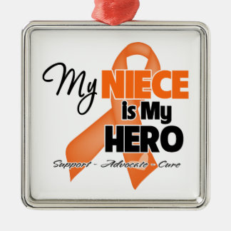 My Niece is My Hero - Leukemia Metal Ornament