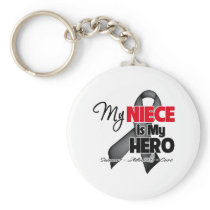 My Niece is My Hero - Skin Cancer Keychain