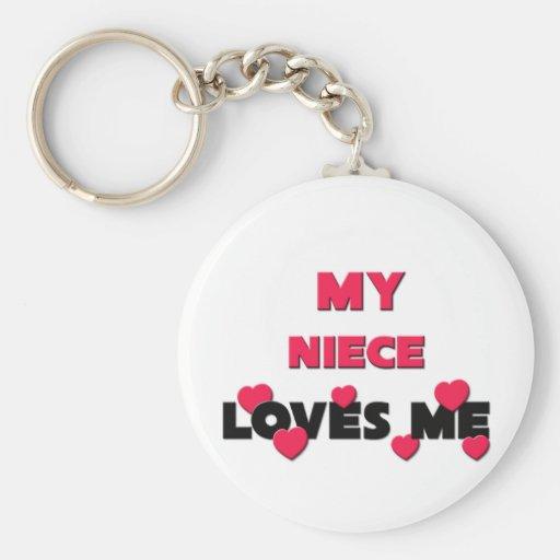 My Niece Loves Me Keychain