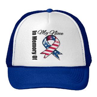 My Niece Memorial Patriotic Ribbon Trucker Hat