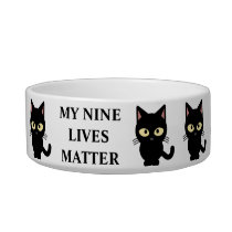 My Nine Lives Matter Cat Bowl