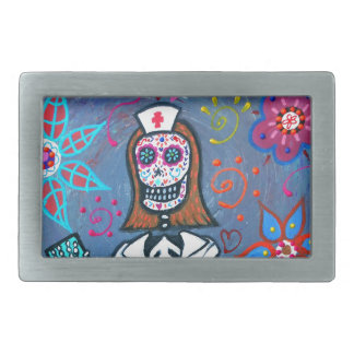 My No.1 Nurse Day of the Dead Belt Buckle