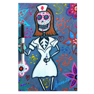 My No.1 Nurse Day of the Dead Dry-Erase Whiteboards