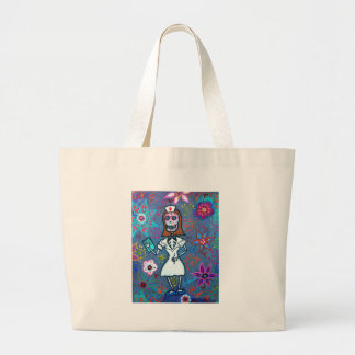 My No.1 Nurse Day of the Dead Large Tote Bag