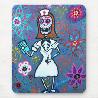 My No.1 Nurse Day of the Dead Mouse Pad