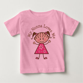 My Nonna Loves Me Stick Figure Baby T-Shirt