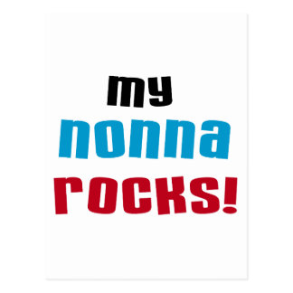 My Nonna Rocks T-shirts and Gifts Postcards
