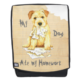 My Norfolk Terrier Ate My Homework Backpack
