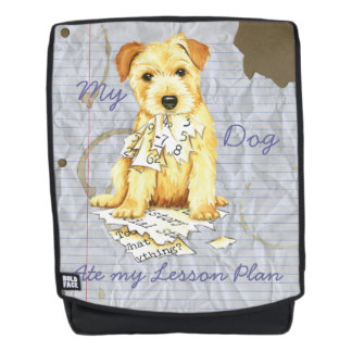 My Norfolk Terrier Ate My Lesson Plan Backpack