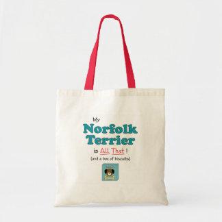 My Norfolk Terrier is All That! Tote Bag