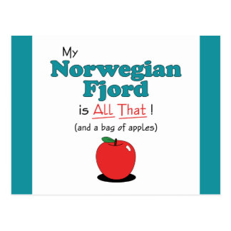 My Norwegian Fjord is All That Funny Horse Post Card