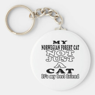 My Norwegian Forest Cat not just a cat Keychains