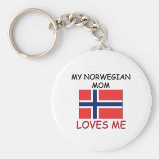 My Norwegian Mom Loves Me Key Chain