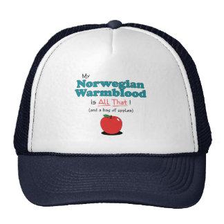My Norwegian Warmblood is All That! Funny Horse Trucker Hat