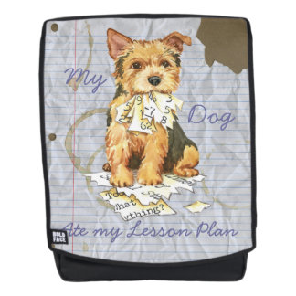 My Norwich Terrier Ate my Lesson Plan Backpack
