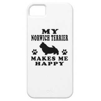 My Norwich Terrier Makes Me Happy iPhone 5 Case