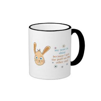My Nose is Shiny Ringer Coffee Mug