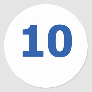 My number is 10 classic round sticker
