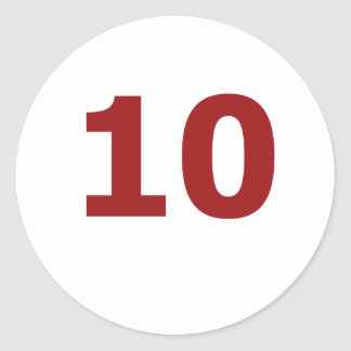 My number is 10! classic round sticker