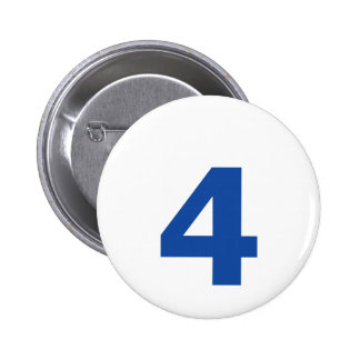 My Number is 4 Pinback Button