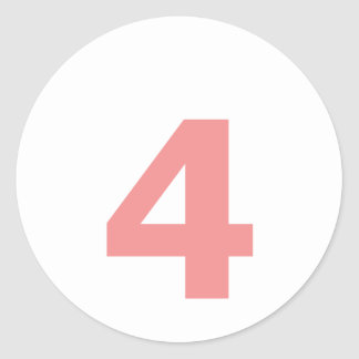 My Number is 4 Classic Round Sticker