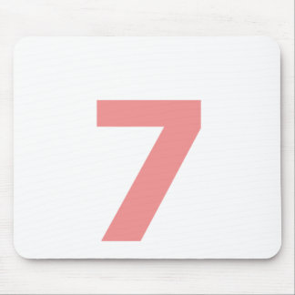 My number is 7 mouse pad