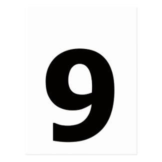 My number is 9! postcard