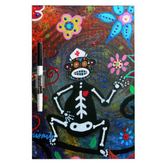 MY NURSING ASSISTANT MONKEY DAY OF THE DEAD Dry-Erase WHITEBOARD