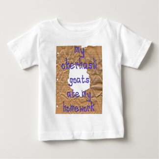 My Oberhasli Goats Ate My Homework Baby T-Shirt