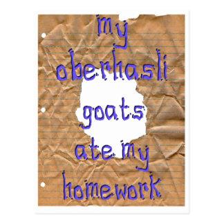 My Oberhasli Goats Ate My Homework Postcard