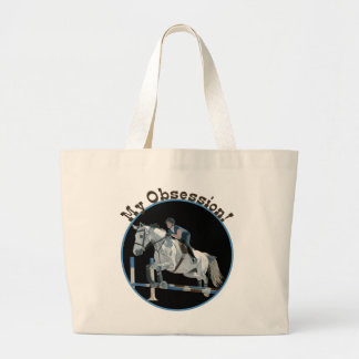 My Obsession Horse Jumper Large Tote Bag