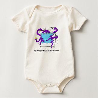 My Octopus Infant Long Sleeve Template Baby Bodysuit