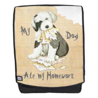 My Old English Sheepdog Ate My Homework Backpack