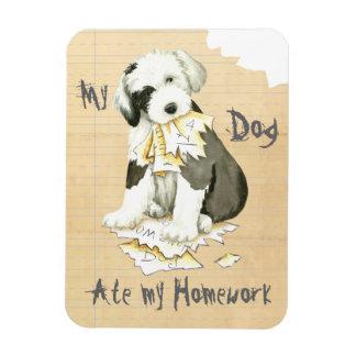 My Old English Sheepdog Ate My Homework Magnet
