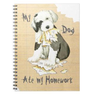 My Old English Sheepdog Ate My Homework Notebook