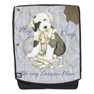 My Old English Sheepdog Ate my Lesson Plan Backpack