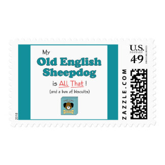 My Old English Sheepdog is All That! Postage Stamps