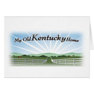 My old Kentucky home Cards