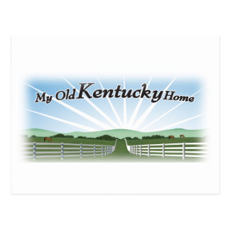My old Kentucky home Postcard