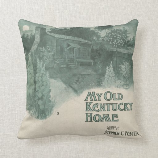 My Old Kentucky Home Throw Pillow Zazzle