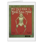 My Old Man Is Baseball Mad Vintage Songbook Cover Card