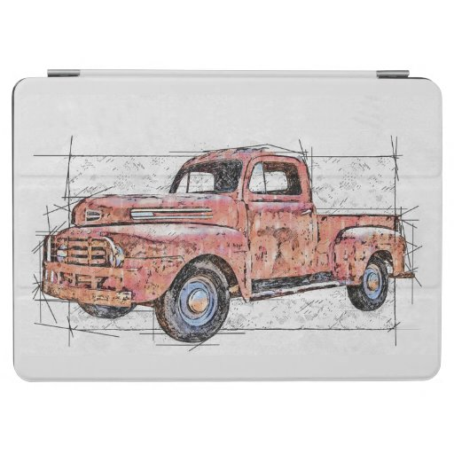 My Old Red Truck iPad Air Cover