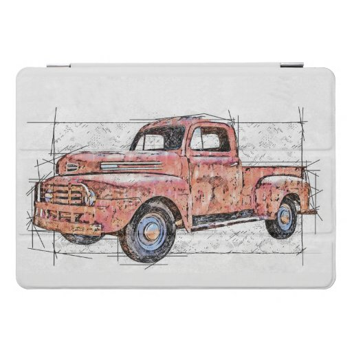 My Old Red Truck iPad Pro Cover