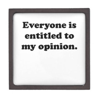 My Opinion Premium Trinket Boxes