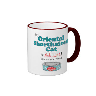 My Oriental Shorthaired Cat is All That! Ringer Coffee Mug